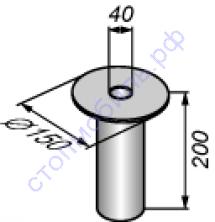 Плита опорная  унифицированная диаметром 150 мм