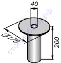 Плита опорная  унифицированная диаметром 170 мм